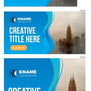 Wave Creative Company Web Banner Set