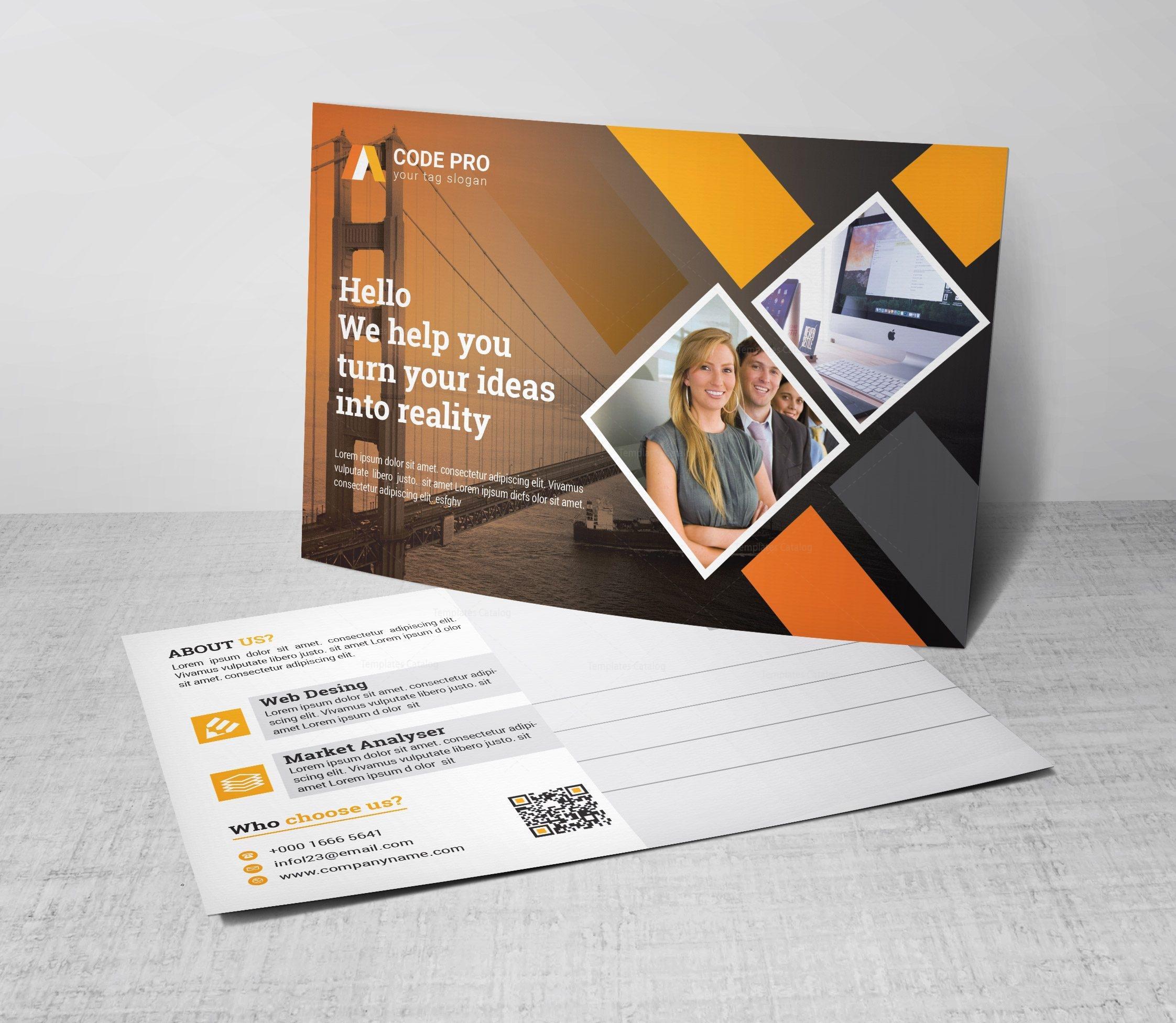 advertising corporate postcard template 002365 template catalog