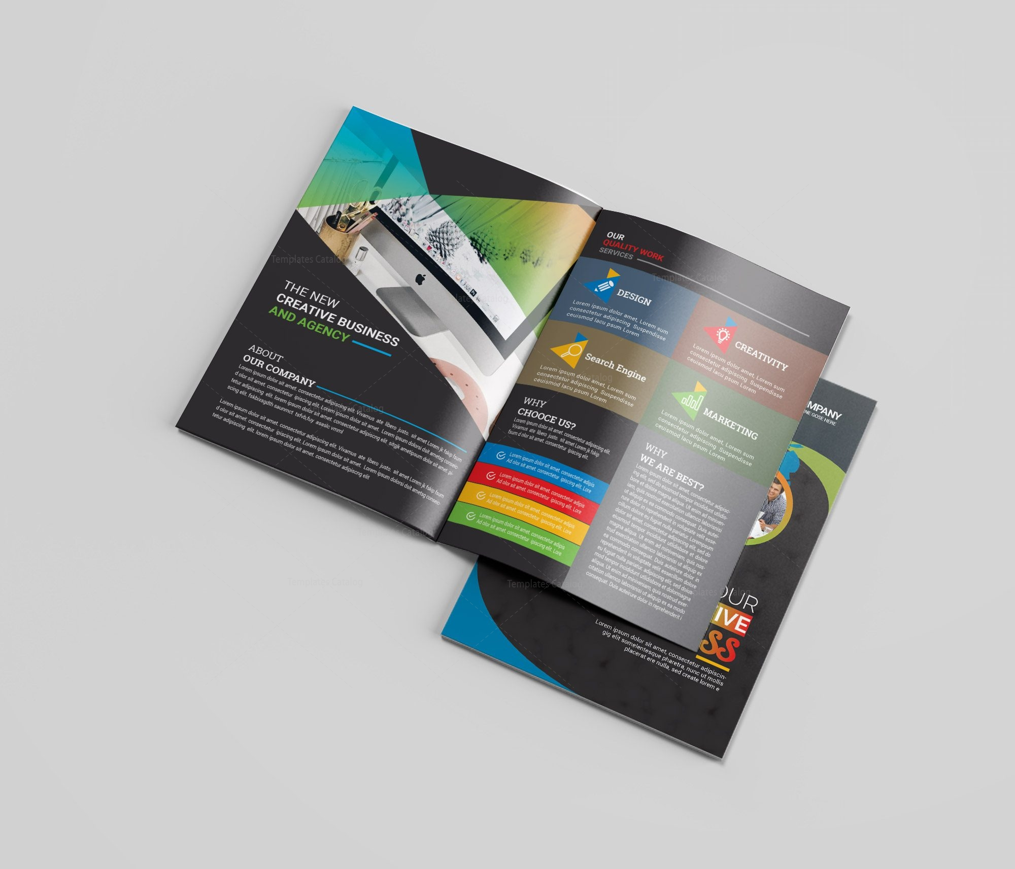 Art Bi Fold Brochure Template 002377 Template Catalog