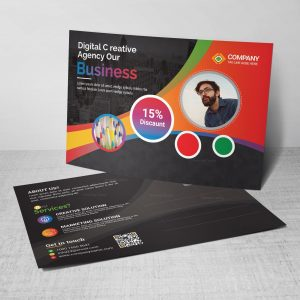 Excellent Postcard Design Template