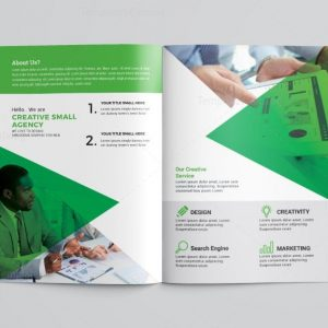 HR Business Bi-Fold Brochure Template