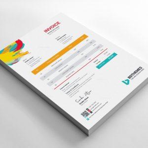 Retail Invoice Design Template