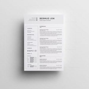 Classic White Resume