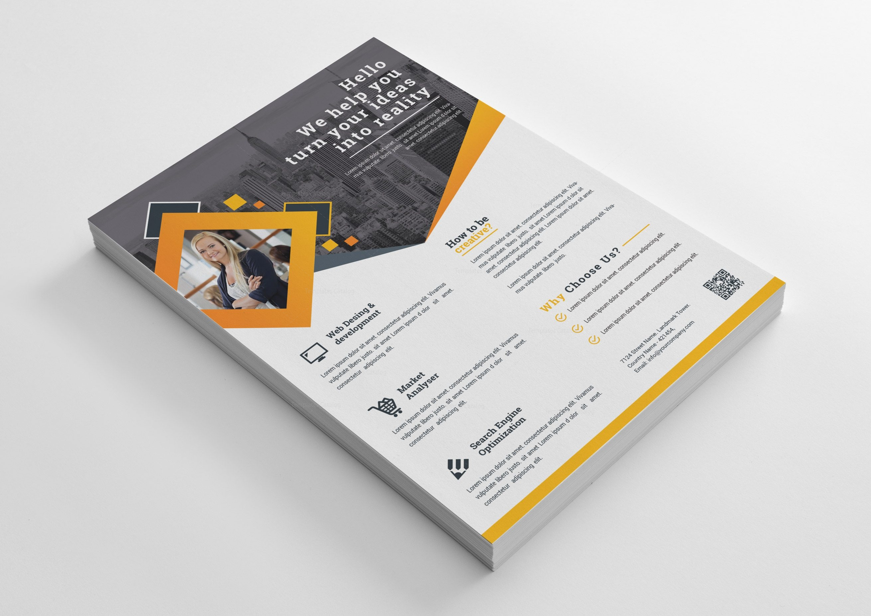 clean business flyer design 002401 template catalog
