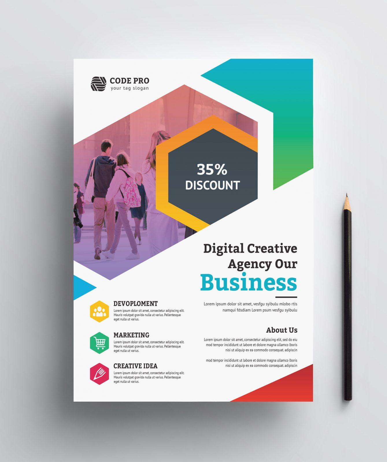 education business flyer design 002410