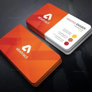 Orange Business Card Design
