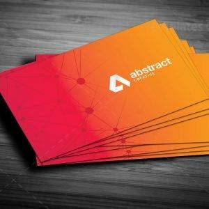 Orange Stylish Business Card