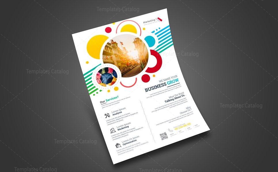 print marketing flyer design 002439 template catalog