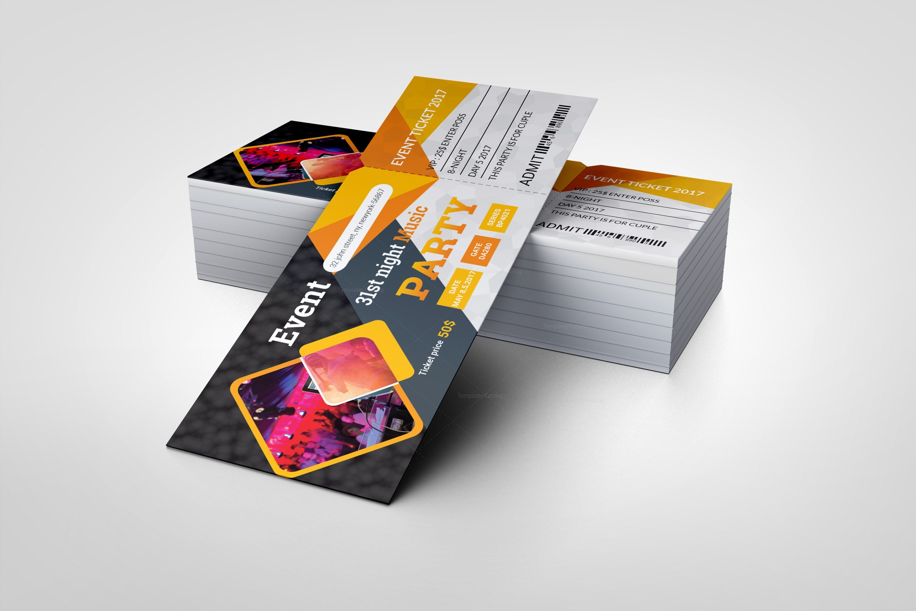 printable party ticket template 002416 template catalog