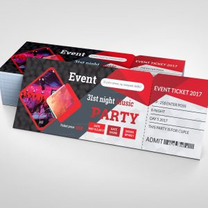 Printable Party Ticket Template