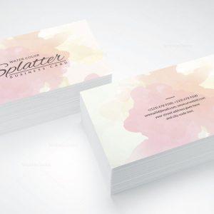 Splatter Business Card Design