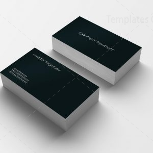 Black Simple Business Card Design