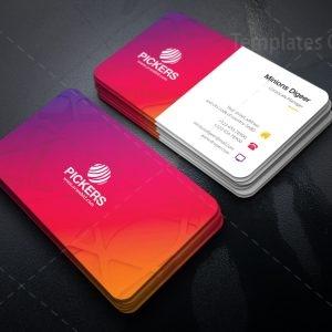 Fuchsia Elegant Business Card Design