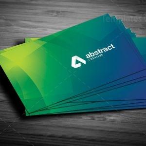 Green Elegant Business Card Design