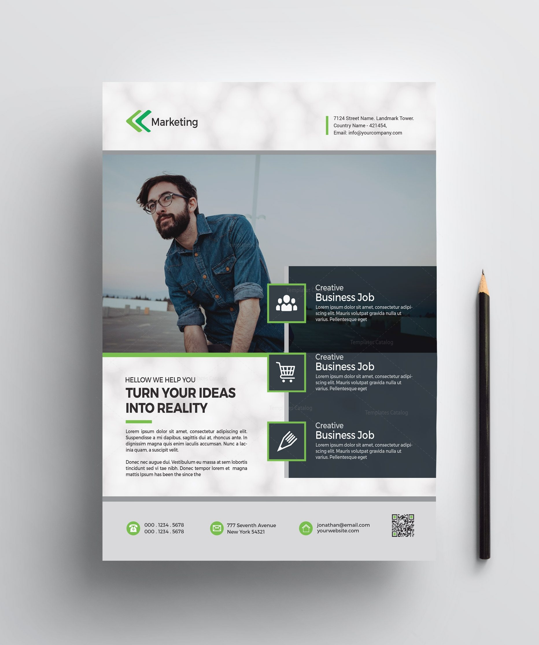 marketing printable flyer templates 002548 template catalog
