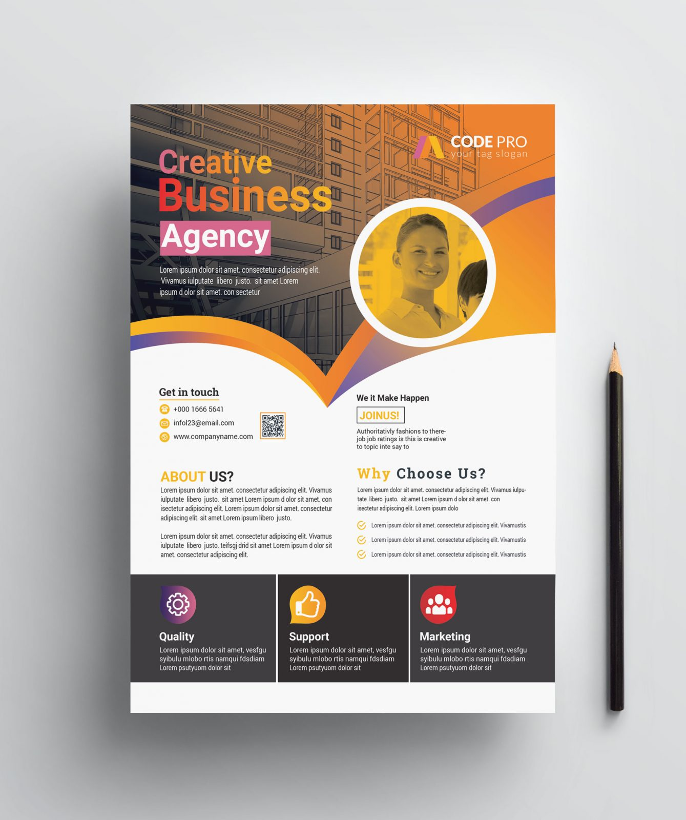 gold business flyer designs 002785